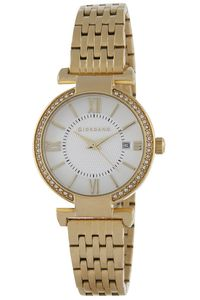 Women's Stainless Steel Band Watch - 2876, gold, white, gold