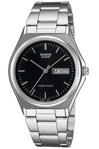 Men's Stainless Steel Band Watch - MTP-1240, black, silver, silver