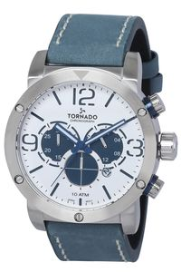 Tornado Men's Watch Chronograph Display-T8110-SLNW, silver, navy blue