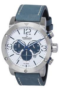 Tornado Men's Watch Chronograph Display-T8110-SLNW, silver, navy blue