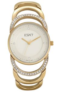 Ecstacy Womens Watch Analog Display - E6508-GBGM, silver, silver
