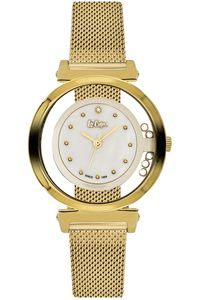 Women's Super Metal Band Watch - LC06317, gold, gold, white