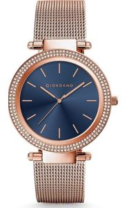 Women's Solid Stainless Steel Band Watch -2798, rose gold, blue, rose gold