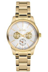 Women's Super Metal Band Watch - LC06202, gold, gold, white