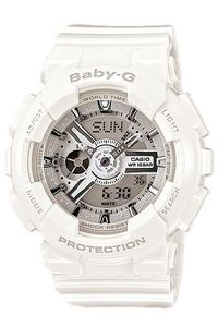 Women's Resin Band Watch -BA-110, white, grey, white