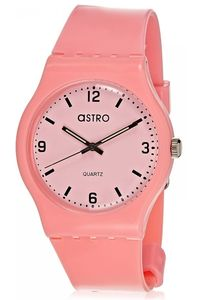 Astro Kids Pink Plastic Watch - A8806-PPPP, pink, pink, pink