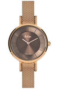 Women's Super Metal Band Watch - LC06373, brown, rose gold, rose gold