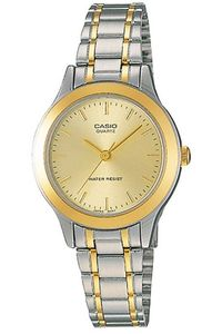 Women's Stainless Steel Band Watch - LTP-1128, champagne, silver, tt gold