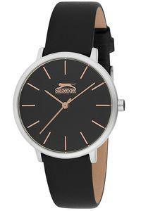 Women's Leather Band Watch - SL. 9.6058, black, silver, black