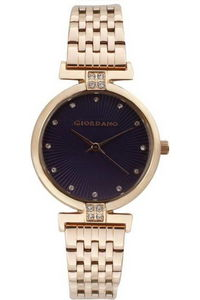 Giordano Women's Watch Analog Display- 2869-55, rose gold, puple