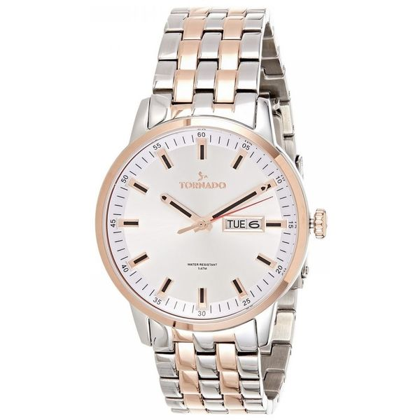 Men s Solid Stainless Steel Band Watch- T8006