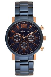 Giordano Men's Watch Multi Function Display- 1829-44, blue, blue