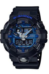 Men's Resin Band Watch -GA-710, blue, black, black