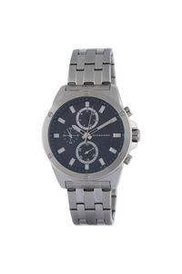 Giordano Men's Watch Multi Function Display- 1885-22, silver, black