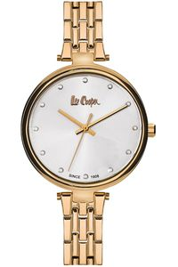 Women's Super Metal Band Watch - LC06329, blue, gold, silver