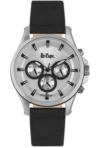 Men's Resin Band Watch -LC06502, silver, silver, black