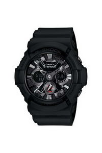G-shock Men's Resin Band Watch GA-201-1A, black, black, black