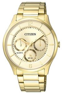 Men's Stainless Steel Band Watch - AG8353, gold, gold, gold