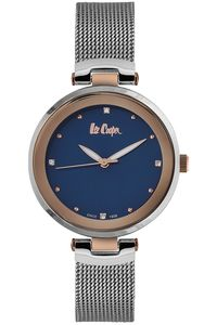 Women's Super Metal Band Watch - LC06508, mop blue, silver, silver