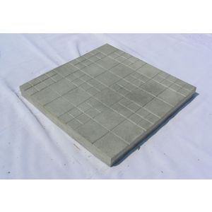 12X12 GLOSSY CHEQUERED TILE (25MM THICKNESS) - CADBURY DESIGN, grey