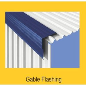 TATA DURASHINE STANDARD ACCESSORIES - GABLE FLASHING 3050MM (10 FEET) X THICKNESS 0.45MM, satin silver