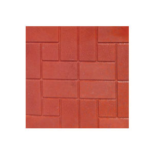 12X12 GLOSSY CHEQUERED TILE (25MM THICKNESS) - BRICK
