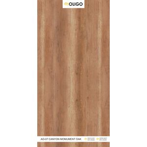 ALSTONE OLIGO WOOD POLYMER COMPOSITE BOARD (8 x 4 FEET) - CANYON MOMUMENT OAK, both side, gloss, 12 mm