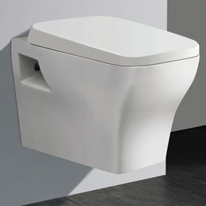 AQUANT WALL HUNG TOILETS - 1801 WITH PVC SEAT COVER,  white