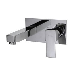 HINDWARE QUADRA SERIES - F380013 EXPOSED PART KIT OF SINGLE LEVER BASIN MIXER WALL MOUNTED CONSISTING OF OPERATING LEVER, WALL FLANGE, NIPPLE AND SPOUT (COMPATIBLE WITH F850093)