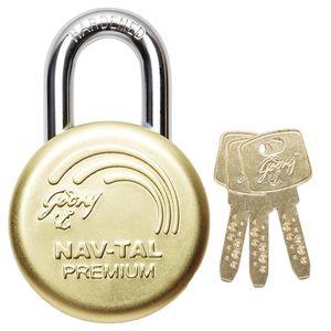 GODREJ ULTRA PADLOCKS: Nav-Tal Premium Deluxe Hardened (3 keys)