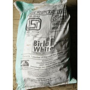 BIRLA WHITE CEMENT - 5 KG BAG (5KG PACKET X 5 - TOTAL 25 KG)