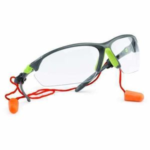 UDYOGI EYE PROTECTION GOOGLE -TWISTER SERIES CLEAR LENS, NOSE BRIDGE, WITH EAR PLUG RETAINER