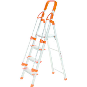 PEARL ALLUMINUM LADDER 4 STEPS WITH RAILING