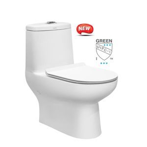 CERA S1014124 - CITRUS One Piece EWC S Concealed Duroplast Soft Close Seat Cover & Twin Flush Fittings, WHITE