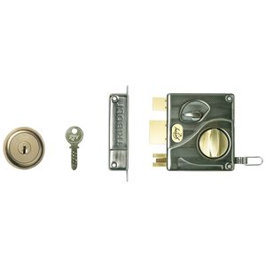 GODREJ ULTRA TRIBOLT - 2C Antique Brass Deadbolt