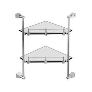 CERA ALLIED PRODUCTS - F5005201 CORNER GLASS SHELF WITH TWO RACKS