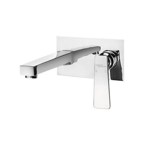 HINDWARE KYLIS SERIES - F370013 EXPOSED PART KIT OF SINGLE LEVER BASIN MIXER WALL MOUNTED CONSISTING OF OPERATING LEVER, WALL FLANGE & SPOUT (COMPATIBLE WITH F850093)