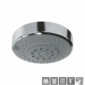 JAQUAR MULTI-FUNCTIONAL SHOWERS SERIES - OSH-1779 OVERHEADED SHOWER DIAMETER 120 MM ROUND SHAPE MULTI FLOW WITH CASCADE EFFECT WITH RUBIT CLEANING SYSTEM