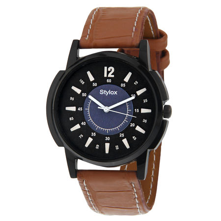 Stylox Black Dial Formal Watch For Men-WH-STX140