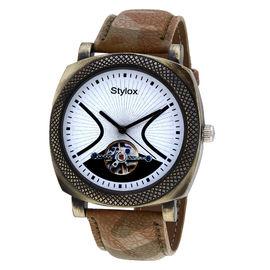 Stylox White Dial Stylish Watch