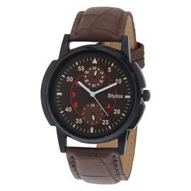 Stylox Brown Dial Watch For Men-WH-STX141