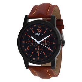 Stylox Navy Blue Round Dial Stylish Watch
