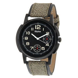 Stylox Black Dial Watch For Men