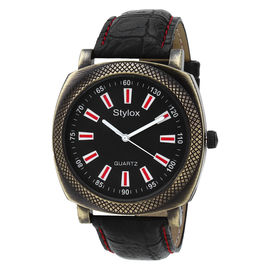 Stylox Black Square Dial Stylish Watch