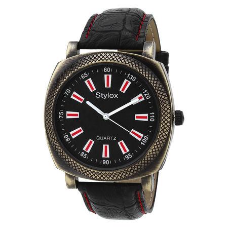 Stylox Black Square Dial Stylish Watch