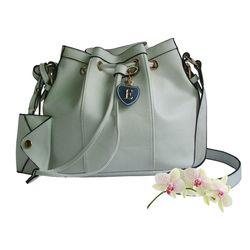 Quality handmade fashion bag, White