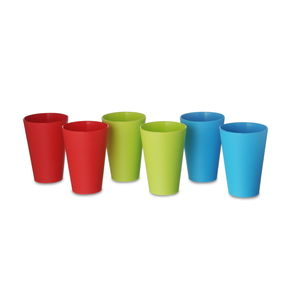 Glass Set of 6, 300 ml, multi color