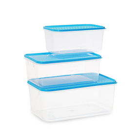 Polka Container Set of 3, 9300 ml,  blue