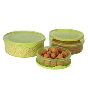 Dura Fresh Container Set, Set of 3, ( 1000 ml - 2000ml -3000ml), 6 ltr,  green