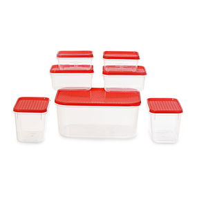 Polka Container Set of 7,  red